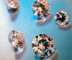UV-lyset gjorde de skinnende diamantene matte. (Foto: Colourbox)