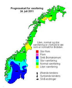 Kartet viser områder som kan bli berørt. (Foto: NVE)