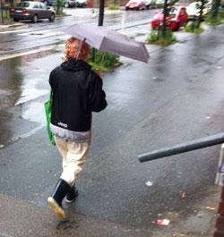 Det blir en våt helg for Sør-Norge (Foto: Kathleen Buer)