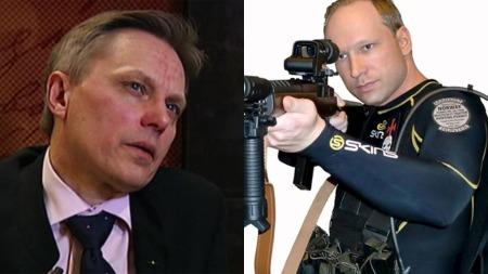 SKAL HA MØTT FJORDMAN: Alan Lake (t.v) har hatt en sentral rolle i oppbyggingen av den høyreradikale protestbevegelsen EDL. Han skal ha møtt Fjordman, en norsk islamkritisk blogger, som ifølge Dagbladet har en sentral rolle i Behring Breiviks manifest. (Foto: TV  2/Privat)