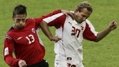 Kjetil Wæhler under en privatkamp mot Sveits i 2005 (Foto: Aas, Erlend/SCANPIX)