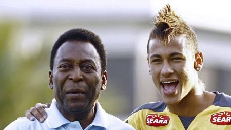 Pelé og Neymar (Foto: LUIZ FERNANDO MENEZES/Afp)