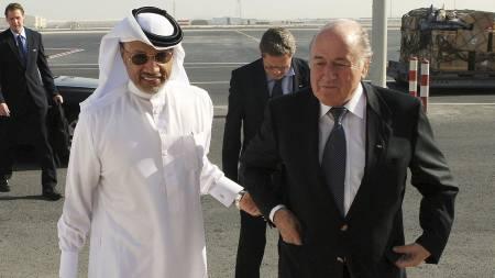 Sepp Blatter, Mohammed bin Hammam (Foto: STR/Afp)