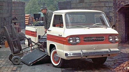 1962 Chevrolet Corvair 95 Rampside. Foto fra brosjyren