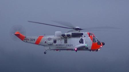 STO PÅ BAKKEN: Da meldingene om Utøya-massakeren kom, sto det et Sea King-helikopter parkert på Voldsløkka i Oslo.  (Foto: TV 2 )