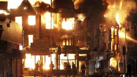 Her brenner familiebedriften til Trevor Reeves opp. Reeves Corner lå i Croydon, sør i London. (Foto: Lewis Whyld/Pa Photos)