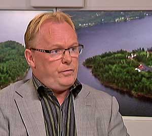 Leder Per Sandberg i Stortingets justiskomité. (Foto: TV 2)