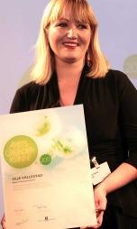 Silje Vallestad ble kåret til årets gründer i mars 2011.  (Foto: Morten Holm)
