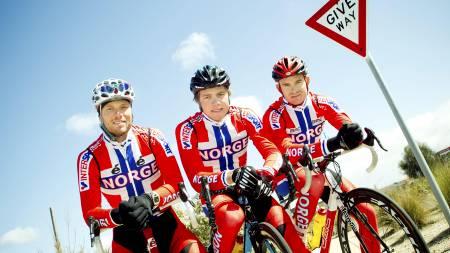 Edvald Boasson Hagen, Alexander Kristoff og Thor Hushovd (Foto: Junge, Heiko/Scanpix)