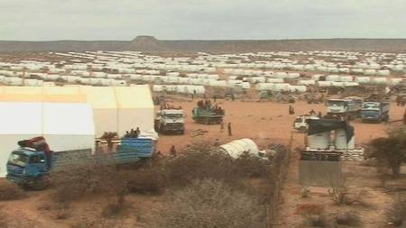 Dette oversiktsbildet viser deler av flyktningeleiren i Liben i Etiopia. (Foto: Leger uten grenser)