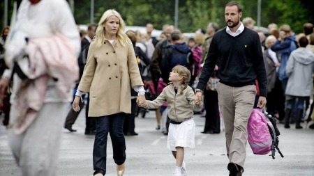 I fjor hadde prinsesse Ingrid Alexandra sin første skoledag på Jansløkka skole i Asker.  (Foto: Linn Cathrin Olsen )