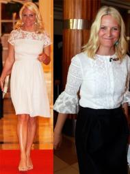 YNDIG: Mette-Marit har funnet sin egen måte å bruke blonder   på, som både er kledt, søtt og avslappet samtidig.