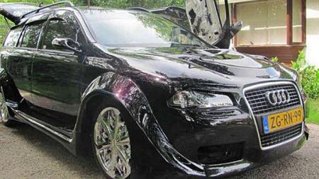Det kunne nesten gått for å være en Audi-front - men det er et par ting som skurrer her... (Foto: autoblog.nl)
