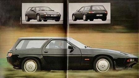 Porsche 928 Artz. Kopi av artikkel fra da bilen var ny.