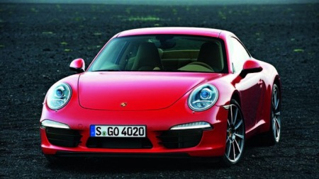 Porsche-991-forfra-rød