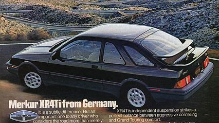 Sierra ble solgt som Merkur XR4Ti av Mercury i USA.