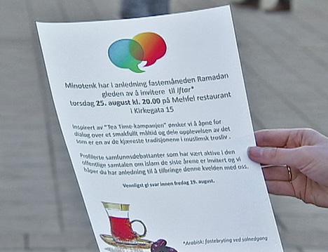 Dette er invitasjonen som ble sendt ut. (Foto: TV 2)