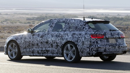 Foreløpig har testbilen eksosutslipp fra S-modellene, men det er visstnok slik Audi pleier å