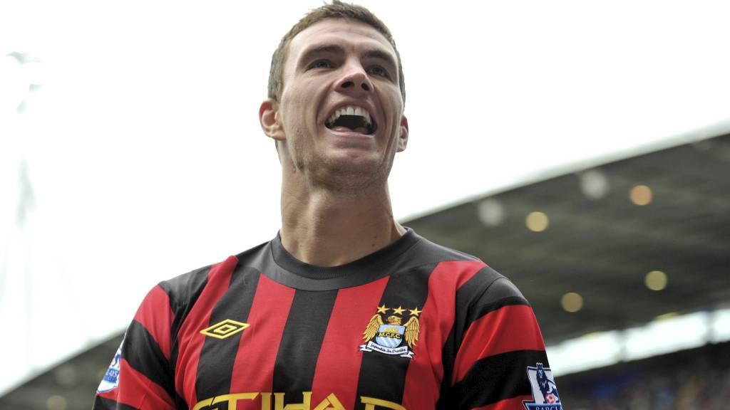 Edin Dzeko har allerede scoret seks seriemål for Manchester City denne sesongen. Vi forventer mer nettsus av vertenes fryktinngytende angrep hjemme mot Wigan i ettermiddag (Foto: Martin Rickett/Pa Photos)