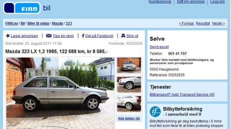 Mazda-annonse