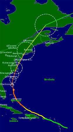 Prognosene viser at Irene vil treffe land i North Carolina lørdag før den fortsetter nordover mot New York. Orkanen har blitt nedgradert, men alle beredskapsplaner gjelder fortsatt. (Foto: TSR)