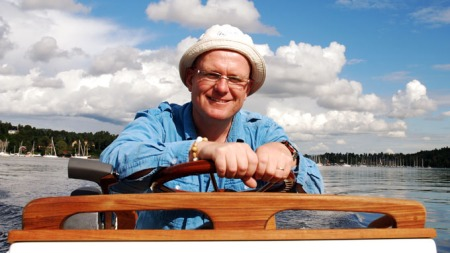 Fin båt beøver ikke koste skjorta, sier Jan Erik (Foto: Benny Chrostensen)