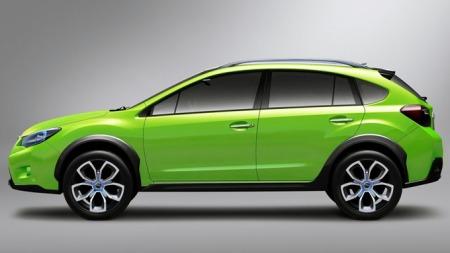 Mykt formet, høyreist og svært så grønn så XV ut da den ble presentert i konseptform tidligere i år. Alt tyder på at produksjonsbilen blir omtrent identisk. Foto: Subaru