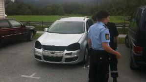 Politiet har vore på staden og sikra spor. Dei er interesserte i tips frå publikum. Foto: Yngve Årdal/firda.no/ANB