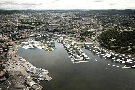 Oversiktsbilde av hele Bjørvika. (Foto: Lund Hagem og Atelier Oslo)