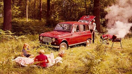 Reklamebilde av Renault 4 fra 1962