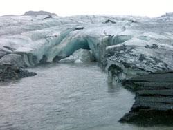Slik så det ut på Myrdalsjökul i oktober 2010. (Foto: Ronald Toppe)