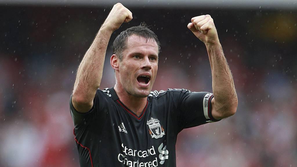 ELSKER ANSVAR: Jamie Carragher trives godt i rollen som en av de erfarne spillerne på Liverpool-laget. (Foto: Nick Potts/Pa Photos)