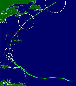 Den tropiske syklonen Maria følger omtrent samme bane som Katia. (Foto: TSR)