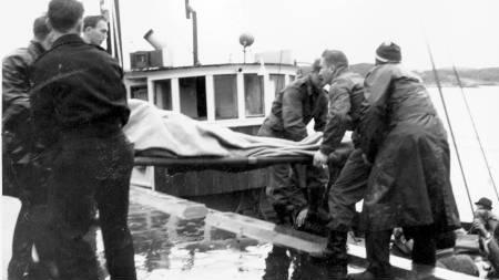Kvelden den 22. oktober gikk hurtigruteskipet  Sanct Svithun på grunn, forliste og sank ved Nordøyan på sjøstrekningen Folda. (Foto: Scanpix/SCANPIX)