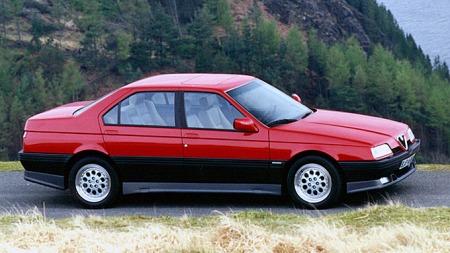 Alfa Romeo 164: Noe ved denne bilen er veldig elegant, veldig tidløst - og veldig fristende. Pininfarina-designet står seg fremdeles godt, mens søstermodellene Fiat Croma, Saab 9000 og Lancia Thema falmet mye fortere.
