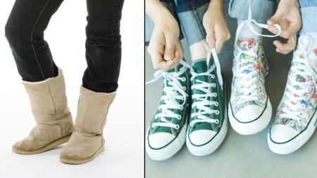 Uggs eller Converse. Hvilke sko liker du best? (Foto: Illustrasjonsfoto)