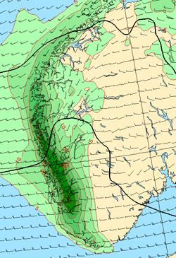Her vil det falle mest nedbør mellom klokken 02 natt til torsdag og et døgn frem. (Foto: StormGeo)