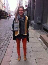 VINTAGE FRA PARIS: Marie elsker sin lammeskinnsvest fra Paris.