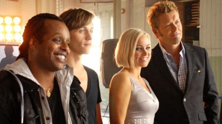 De fire mentorene i The voice (Foto: Sandra   Mei Ling Noer/TV 2)
