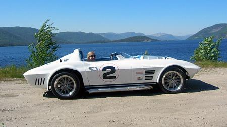 Bortsett fra størrelsen på felgene er bilen en ganske nøyaktig kopi av Grand Sport #002, også kjent som Wintersteen-bilen. Foto: Privat