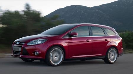 2011, Ford Focus stv. Illustrasjonsbilde