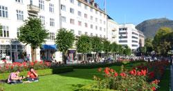 I Bergen var det sol og finvær 16. september. (Foto: Ronald Toppe)