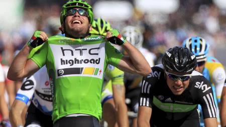 BLIR IKKE LAGKAMERATER? Mark Cavendish og Edvald Boasson Hagen. (Foto: Laurent Rebours/Ap)