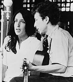 Joan Baez og Bob Dylan på Newport-festivalen i 1963