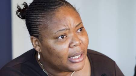 GLEDER SEG: Kvinneorganisasjonen WIPSEN-Africa som ledes av fredsprisvinner Leymah Gbowee fra Liberia. gleder seg stort over tildelingen av Nobels fredspris. (Foto: Roald, Berit/Scanpix)