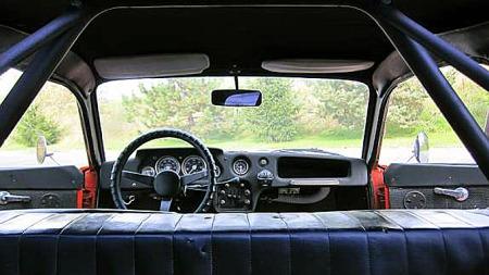 Originalmontert veltebøyle ga nok et litt tøffere sportsbilpreg enn resten av bilen kunne leve opp til. Foto: Privat