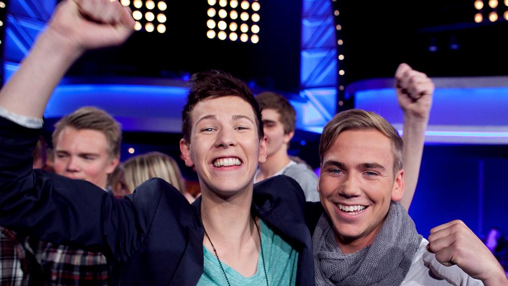 Henrik Mortensen og Christopher Olafsrud er videre i Idol (Foto: Thomas Reisæter/TV 2)
