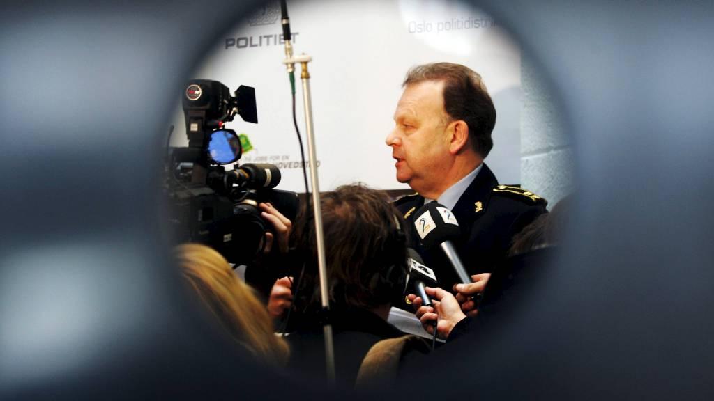 Tidligere politioverbetjent Finn Abrahamsen, her avbildet under en pressekonferanse i 2007 like før han gikk av med pensjon. (Foto: Åserud, Lise/SCANPIX)