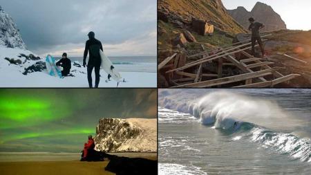 Følg med på nettserien «Nordfor sola», med vakker natur, surfing og to kreative gutters jakt på paradiset. (Foto: Nordfor sola)