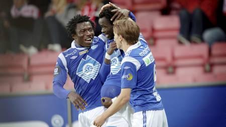 Davy Claude Angan, Daniel Chima Chukwu og resten av Molde har hatt mye å juble for i årets sesong. (Foto: Olsen, Linn Cathrin/SCANPIX)